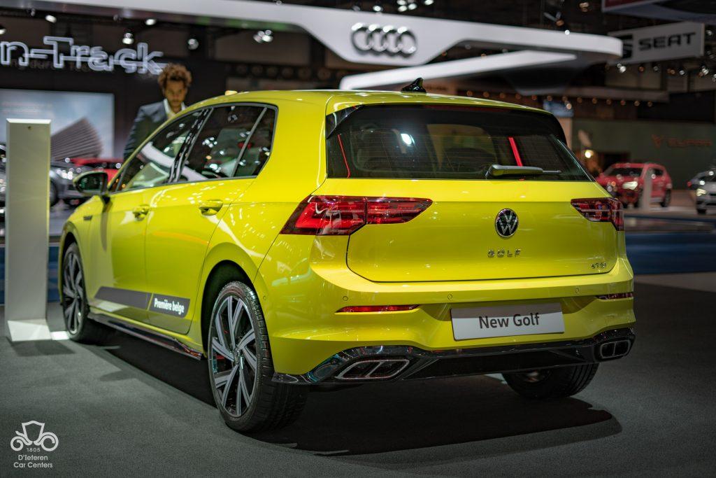 Golf 8 jaune 3/4 arrière